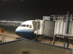 Our B767 waiting at Chicago for the flight Photo