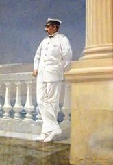 CA1c Corfu Achilleion 15 (awmc1) Tags: uniform porträt kaiser gemälde ganzfigur marineuniform kaiserwilhelmii kaiserlichemarine willystöwer sommeruniform