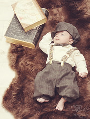 "Baby boy ""M"" (Rawan Mohammad ..) Tags: old boy baby white black cute vintage 1 kid sleep books mohammed newborn month mohammad 2012 newborns  rawan"