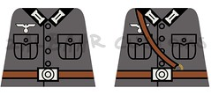 German WWII Decals with no pouches (zalbaar) Tags: world 2 war lego wwii german ww2 decal customs zalbaar