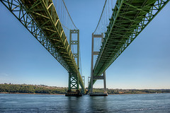 Tacoma Narrows Bridge (todd landry photography) Tags: bridge green architecture photography washington nikon tacoma todd hdr narrows landry d700