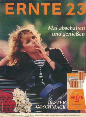 Ernte 23 West German Cigarette Ad 1986