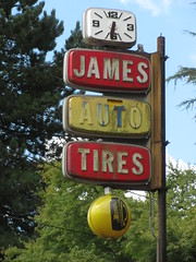 IMG_2606 (anonymousse-ity) Tags: auto old signs clock tires mildue