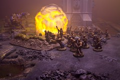 Chaos Cultists (jontlaw) Tags: chaos space 40k warhammer marines atmospheric 40000 pyrotechnic wargaming cultists