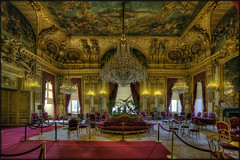 Grand Salon (Scape) Tags: red paris france museum rouge gold louvre or musee napoleon salon baroque deco appartement hdr
