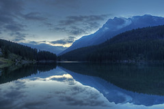 Silence (dbushue) Tags: morning lake mountains nature beauty reflections landscape nikon peaceful calm silence serene albertacanada 2012 banffnationalpark coth twojacklake supershot absolutelystunningscapes d7000 damniwishidtakenthat coth5 photocontesttnc12 dailynaturetnc12