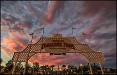 Dreams of Paradise (Coasterluver) Tags: sunset red disneyland disney dca hdr disneycaliforniaadventure redsunset paradisepier andrewkirby coasterluver