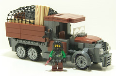 Jungle Cargo Truck (Silenced_pp7) Tags: brick truck lego military cargo jungle minifig custom citizen ak47 moc mercenary brickarms citizenbrick