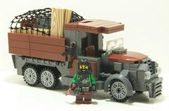 Jungle Cargo Truck (Silenced_pp7) Tags: brick truck lego military cargo jungle minifig custom citizen ak47 moc mercenary brickarms citizenbrick