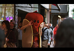 Hot dog (vonderauvisuals) Tags: hello street people urban dog chicago cinema black hot color film colors up look by contrast canon movie moving costume aperture bars warm downtown mood cityscape post state random vibrant candid feel over strangers fast pack 01 02 processing passing feeling visuals split population cinematographer waving cinematic setting grading scenes tone heating crowded dense sweating correction chicagoist darken vonderau pixelmator vsco sealtering