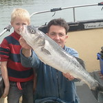WBFT - Me and my grandson with Bass