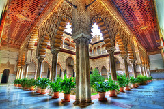 ALCAZAR, PATIO DE LAS DONCELLAS (Diego Gutierrez Serrano) Tags: old art architecture sevilla spain arquitectura edificios ancient arte antique seville andalucia patio alcazar andalusia hdr antiguo gettyimages granangular patrimoniodelahumanidad patiodelasdoncellas alcazardesevilla sevillan sevillban