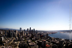 "View from the Space Needle. Seattle, WA, USA • <a style=""font-size:0.8em;"" href=""http://www.flickr.com/photos/35947960@N00/8000412681/"" target=""_blank"">View on Flickr</a>"
