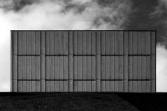 (Delay Tactics) Tags: sunderland theatre brutal sky black white bw empire grid clouds brutiful