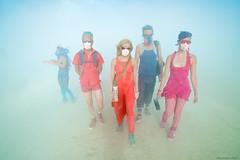 Through The Dust (wtbzl) Tags: eric jessica neil burningman falseprofit shelby janet 2012 monochromeday jankybarge
