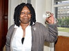 Whoopi Goldberg in Dublin to receive the Gold Honorary Medal of Patronage from Trinity College Philosophical Society Dublin, Ireland