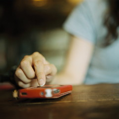 (kajico**) Tags: people 120 film girl hand hasselblad freind