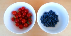 Tomatoes and Blueberries