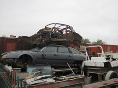 2 door DS coupe shell! (ds23pallas) Tags: french rust citroen ds shell rusty cx special turbo scrapyard breakers chassis custom coupe citroends