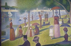 Seurat, A Sunday on La Grande Jatte—1884, detail left side