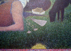 Seurat, A Sunday on La Grande Jatte—1884, detail with standing dog