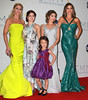 Julie Bowen, Ariel Winter, Aubrey Anderson-Emmons, Sarah Hyland and Sofia Vergara 64th Annual Primetime Emmy Awards, held at Nokia Theatre L.A. Live - Press Room Los Angeles, California