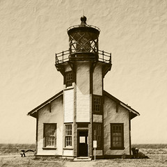 Light Station (Robem) Tags: sepia architecture square exteriors pointcabrillo