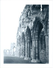 Whitby Abbey 2 (For the easily distracted...) Tags: polaroid coast fuji yorkshire whitby land 340 peelapart fp3000b