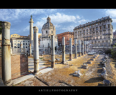 Santa Maria di Loreto & Trajan's Column in Rome, Italy :: HDR (Artie | Photography :: I'm a lazy boy :)) Tags: italy rome church architecture photoshop canon buildings ancient roman forum columns engineering wideangle medieval structure empire imperial pillars ef 1740mm f4 hdr artie trajanscolumn cs3 3xp photomatix tonemapping tonemap santamariadiloreto 5dmarkii 5dm2