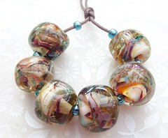 Old Fashioned Glamour Rocks (4) (Glittering Prize - Trudi) Tags: glass glitter beads glamour rocks handmade faceted nuggets trudi lampwork artisan shimmer goldstone gbuk