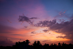 Evening Magic (Sandeep Santra(Searching Jobs ~ A Bit busy)) Tags: sunset sky cloud sun sunlight india color detail colors beauty canon skyscape landscape photography eos evening colorful afternoon details westbengal 500d beautifulmoment colorfulsky incredibleindia chandannagar efs1855mmf3556is sandeepsantra
