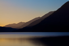 Lake Crescent, Olympic National Forest (Charlotte Hamilton Gibb) Tags: sunset lakecrescent lake water forest landscape washington unitedstates olympicnationalpark olympicnationalforest charlottegibbphotography