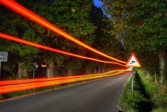 Drvored (Sareni) Tags: road trees light sky tree grass lines night alley shadows branches tripod september slovenia slovenija trafficsign maribor 2012 twop nebo drvored sareni