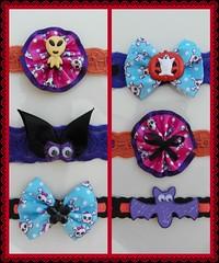 """Tema: Halloween (Cláudia... """"Enfeita seu Pet"""") Tags: pet cão shop g m seu gato cachorro fuxico p gravata cláudia cadela tamanho laço único gravatinha enfeita laçarote"""