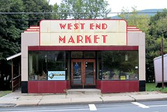 West End Market, North Adams, Mass. (63vwdriver) Tags: old west facade vintage adams market massachusetts north super supermarket storefront end mass porcelain enamel