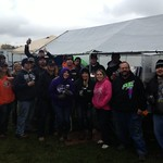This group is at Eldora to support Kasey Schrock and the Schwartz boys of Denny and Danny