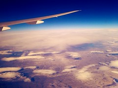 Above the clouds (sagesolar) Tags: blue sky white clouds plane flying day wing fluffy ailerons flickrandroidapp:filter=none