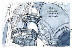 Liège, église Saint-Denis (gerard michel) Tags: architecture sketch belgium baroque liège croquis saintdenis