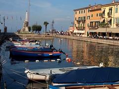 Lazise Lake Garda Italy (saxonfenken) Tags: italy reflection boats harbour 213 lakegarda gamewinner lazia yourockwinner pregamesweepwinner lakegarda7thoct 213boat