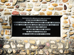 Memorial stone at the Memorial Garden in Aberfan near Merthyr Tydfil dedicated to 116 children and 28 adults who lost their lives on October 21st 1966.. (JBR*) Tags: aberfan