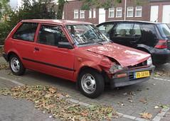 Daihatsu Charade G11 1.0 TS Daimatic 13-6-1986 PR-38-HV (Fuego 81) Tags: crash damage 1986 charade ongeluk daihatsu unfall g11 autoschade daimatic pr38hv
