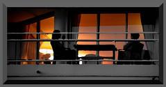 """Se coucher tard nuit"" (Raymond Devos) (Jean-Luc Lopoldi) Tags: evening twilight silhouettes ctedazur lit soir crpuscule balcon nuit fentre intrieur allum"