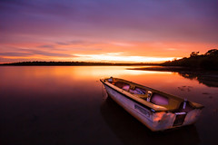 A Tender Sunset (Matthew Post) Tags: longexposure sunset storm clouds boat post matthew australia explore queensland fraser tender dinghy haida tinny poona sigma1020mm cooloola 2minutes explored frasercoast 10stop canon60d cooloolacoast 120seconds 10stopfilter matthewpost