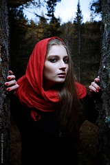 Losted (exdigecko) Tags: autumn portrait woman cold color girl beauty forest umbrella lost nikon losted 1635 d4 sb24 oneflash strobist