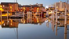 Carnon-Plage (-pieton-) Tags: carnon water eau mirroir mirror nuit night bateau boat port