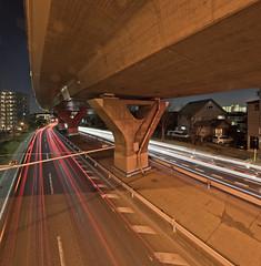 Angyo (spiraldelight) Tags: eos5dmkii tse17mmf4l saitama  angyo  traffic trails light