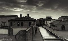 Comacchio in bw (paolotrapella) Tags: italia bw bianco nero sky paesi monumenti comacchio