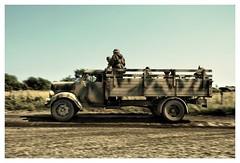 "Opel Blitz WWII reenactment at ""The War and Peace Revival"" show at Folkestone 2016 (essichgurgn) Tags: opelblitz wehrmacht reenactment folkestone 2016 thewarandpeacerevival militaryvehicle truck lorry adamopel rsselsheim blitz blitzkrieg camouflage panned panning brandenburg einheitslkw einheitslastwagen mercedes l701 maultier halftrack halbkette halbkettenfahrzeug borgward b1500 hanomag al28"