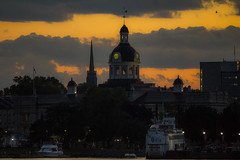 Kingston Nights (KMG Pictures) Tags: city cityscape skyline dome clock cloud sunset boats harbour kingston ontario night nightscene