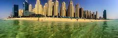 Dubai From The Water (Paul Saad (( ON/OFF ))) Tags: dubai building buildings water gulf skyscraper sky panoramic pano panorama city capital